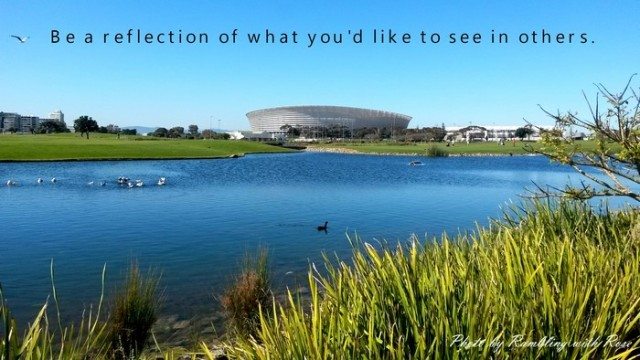 Be a reflection (C) Rambling with Rose