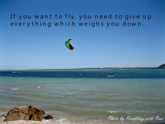 If you want to fly (C) Rambling with Rose