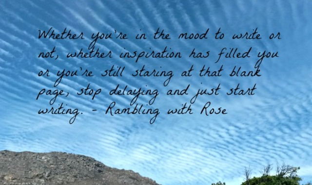 Quote and pic (C) Rambling with Rose